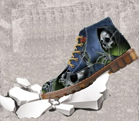 Sapato Bota Rock Customizado Botas De Motociclista