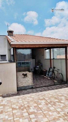 Cobertura Com 2 Dormitórios À Venda, 63 M² Por R$ 425.000,00 - Vila Humaitá - Santo André/sp - Co0969