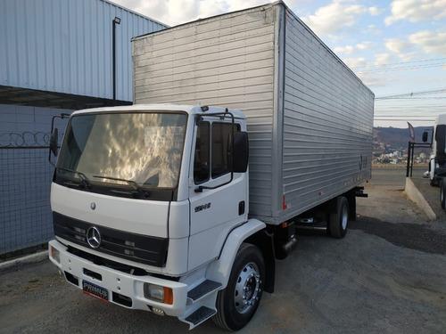 Imagem 1 de 14 de Caminhão Toco Baú Alumínio 8m Mercedes Bens Mb 1214 C
