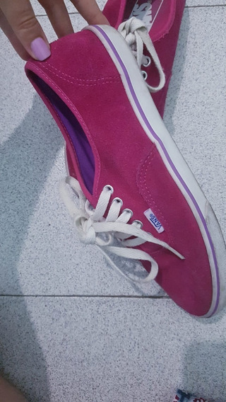 Zapatillas Vans Mujer Gamuzadas Usadas