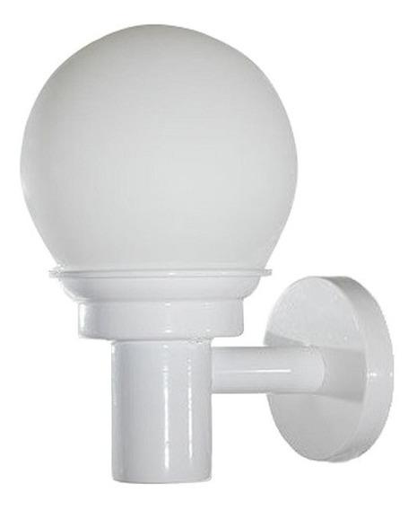 Lámpara Pared Arbotante Acero Blanco Vidrio Opalino Maxxi