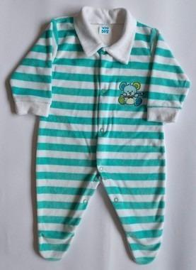 Macacão Bebê Em Plush Menino Tam G