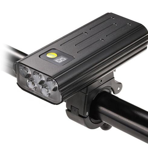 Imagem 1 de 5 de Farol De Bike Bateria Embutida  3000 Lm 5200mah Power Bank