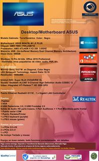Computadora Amd Athlon / Motherboard Asus 4gb/500gb