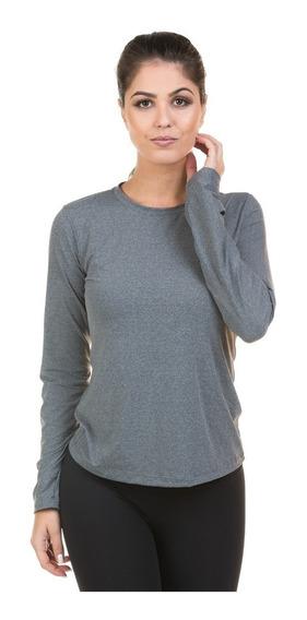 Camiseta Mescla Feminina Manga Longa Proteção Solar Fpu50+