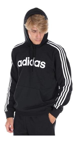 Buzo adidas Hombre 3 Stripes Negro/blanco - Corner Deportes