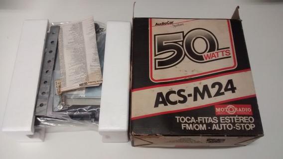 Radio Toca Fitas Motoradio Acs-m24 Nova Na Caixa Raridade
