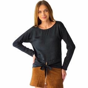 2655ef3b47 Moderna Blusa Negra Corta Marca Nordstrom - Ropa