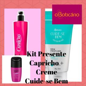 Promoção Capricho Perfume + Desodorante + Creme O Boticário