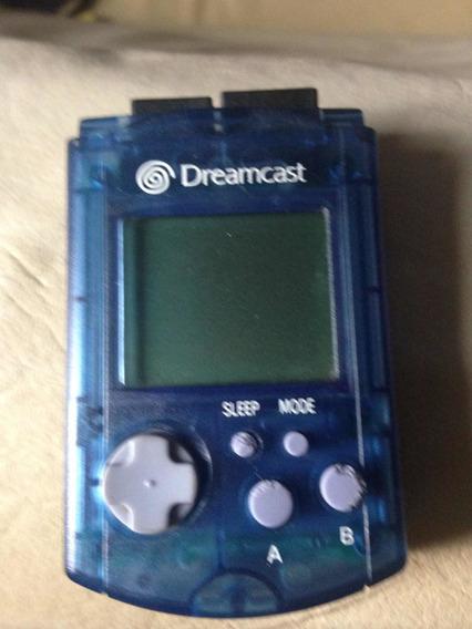 Vmu Dreamcast Azul Transparente Original