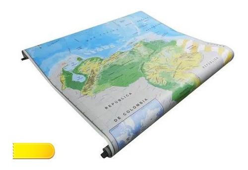 Mapas De Pared Afiche America Mapamundi Venezuela Europa
