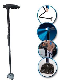 Baston Plegable Ajustable Con Linterna Trusty Cane 5 Niveles