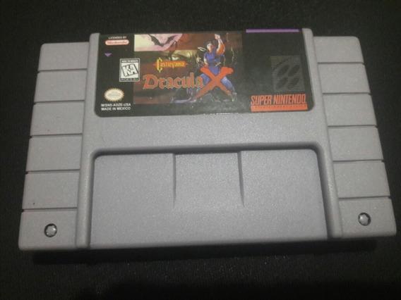 Cartucho Para Super Nintendo Castlevania Dracula X Novo Snes