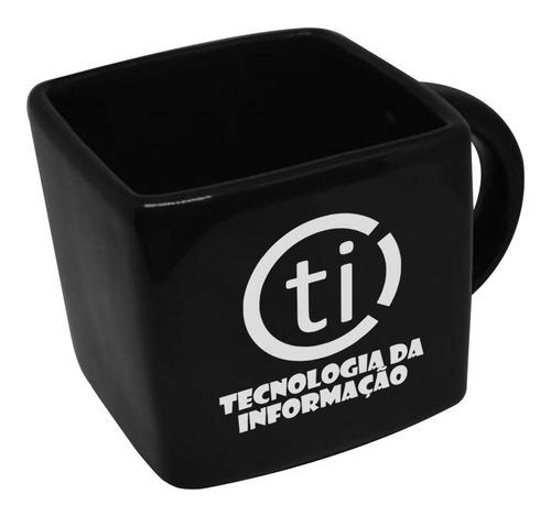Caneca Cubo Quadrada Profissao Tecnologia Informaçao 200ml