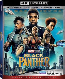 Black Panther 4k + Blu-ray + Digital Hd