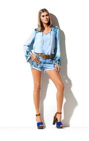 Shorts Jeans Bordado Etnico Morena Rosa 202720