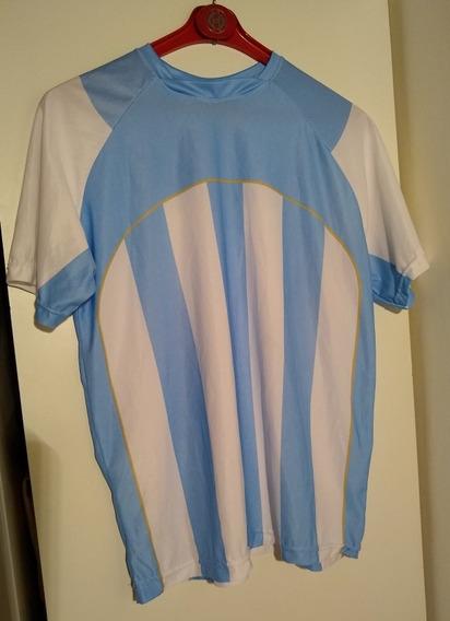 Camiseta De Argentina Del Citibank -t.l. Escote En V - Impec