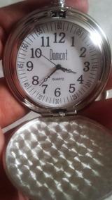 Relógio De Bolso Em Aço Com Corrente Pronta Entrega