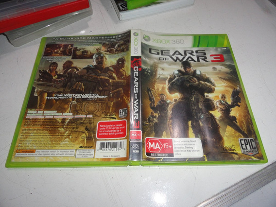 Gears Of War 3 Xbox 360 Midia Fisica Original Pal Europa