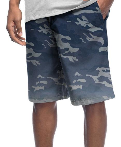 Bermuda Shorts Estampado Poliéster Camo Camuflado Militar #9