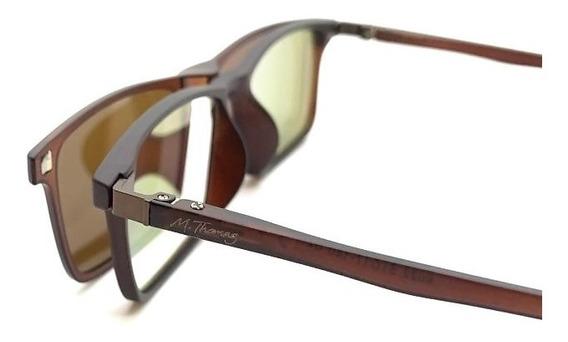 Armação Óculos Grau Solar Masculino Original Mt153 Clip On