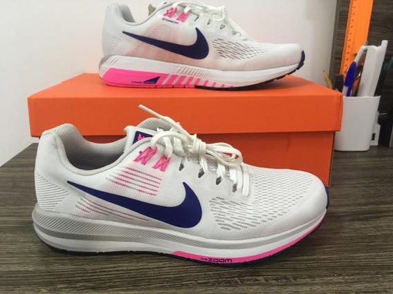 Tênis Nike Structure 21 Branco/rosa
