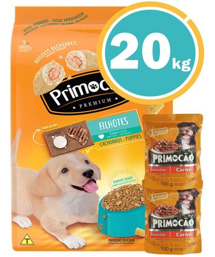 Imagen 1 de 7 de Ración Perro Primocao Premium Cachorro + Obsequio Y E Gratis