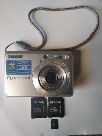 Câmera Digital Sony Dsc-s730 Retirada De Peças C Adaptador