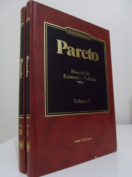 Livro - Os Economistas - V. Pareto - 2 Volumes