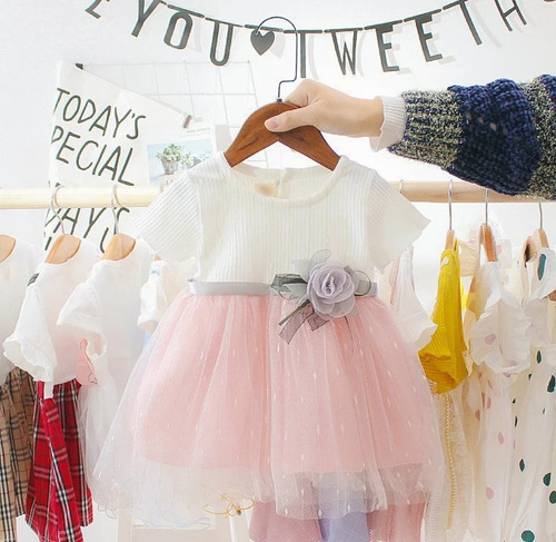Vestido Niña Bebé Casual Fiesta Cumpleaños Ropa Infantil