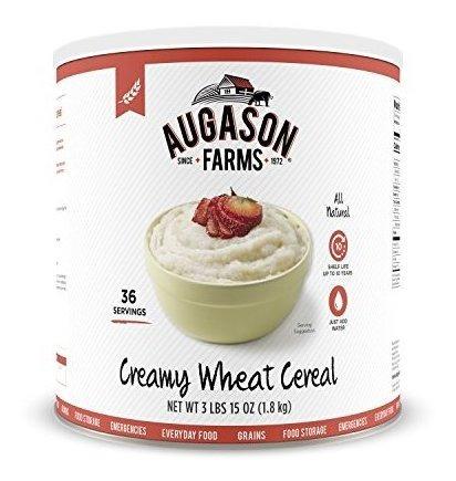 Augason Farms Creamy Wheat Cereal 3 Lbs 15 Oz No. 10 Lata