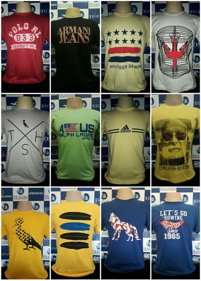 Kit Com 10 Camisas Multimarcas Masculinas