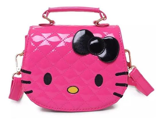 Bolsinha Rosa Pink Hello Kitty Menina Criança