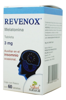 Melatonina 3 Mg Revenox 60 Tab Salud Natural