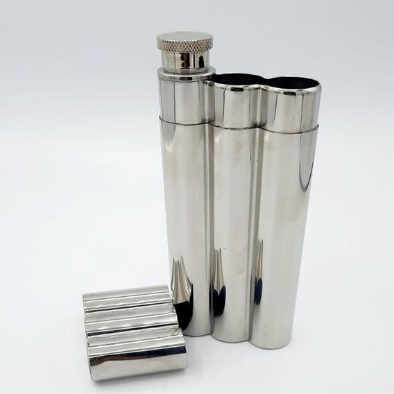 Porta Habano X 2 + Petaca Metal