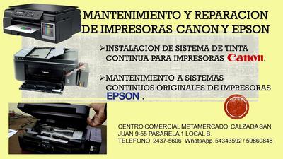 Servicio Especializado En Impresoras Canon Y Hp