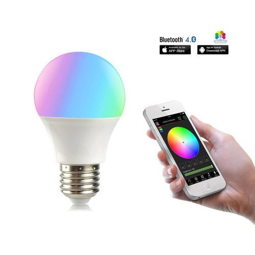 Imagen 1 de 10 de Lampara Led Smart Foco E27 Rgb Multicolor 10w Wi-fi Nuevo