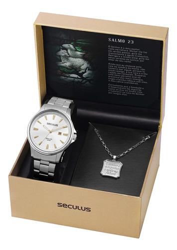 Relógio Seculus Masculino 28934g0svna2k1 Com Cordão Salmo