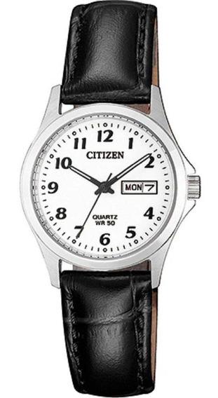 Relógio Feminino Citizen Tz28520n 26mm Couro Preto