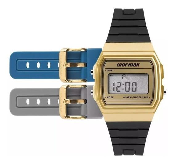 Relógio Masculino Mormaii Digital Clássico Troca Pulseira