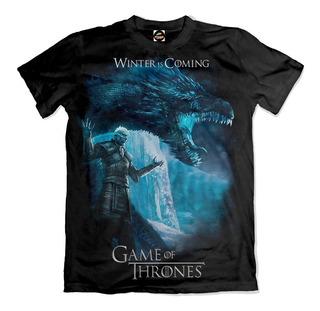 Camiseta Game Of Thrones White Walker Winter Is Coming
