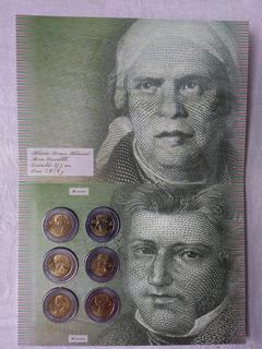 6 Monedas 5 Pesos Bicentenario De La Independencia 2010 Uc