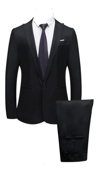 Traje Formal Casual Slim Blazer Y Pantalon