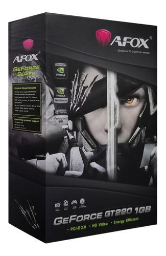 Imagen 1 de 1 de Tarjeta De Video Gt 220 1gb Ddr3 128bits Afox Nvidia Geforce