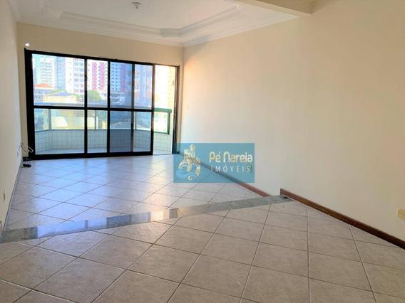 Apartamento Com 3 Dormitórios Para Alugar, 111 M² Por R$ 2.200/mês - Canto Do Forte - Praia Grande/sp - Ap0318