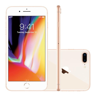 Smartphone Apple iPhone 8 Plus 64gb Tela 5,5 Dourado