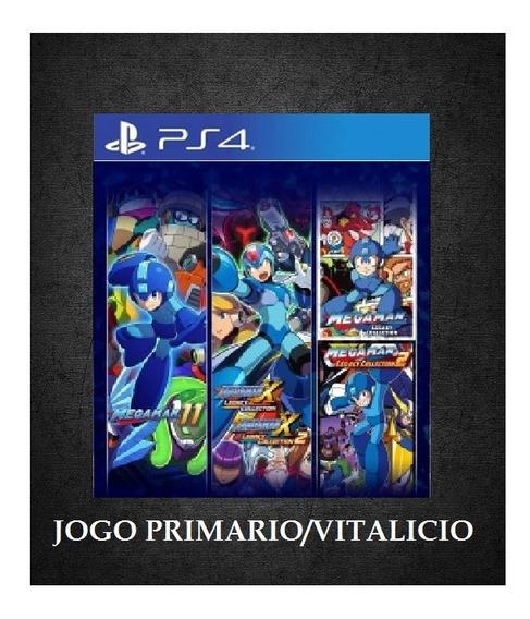 Megaman Coleção 30 Anos Ps4 Psn 1 Envio Agora