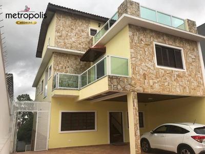 Sobrado Com 4 Dormitórios À Venda, 480 M² Por R$ 2.900.000 - Cerâmica - São Caetano Do Sul/sp - So0391