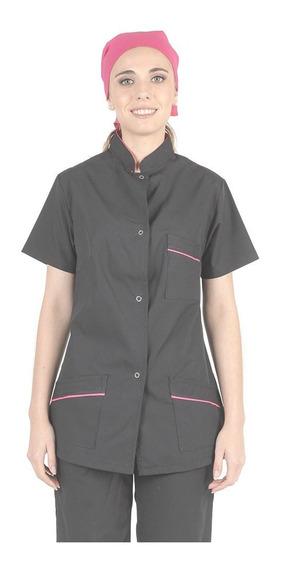 Uniforme Casaca Dama - Negra Color Combinado - Xs -xl
