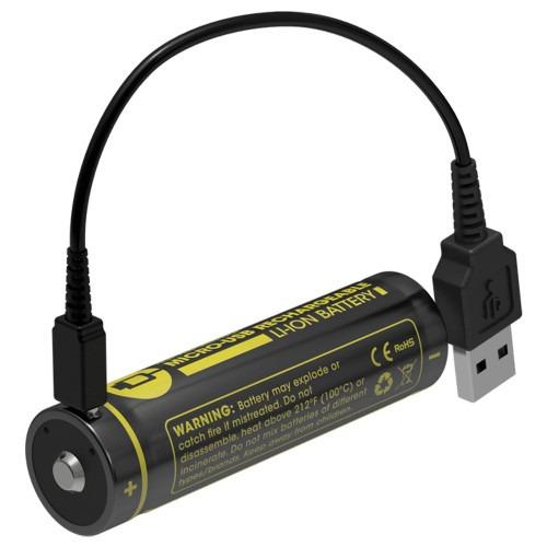 Bateria Nitecore 18650 2600 Mah Recarga Micro Usb Nl1826r